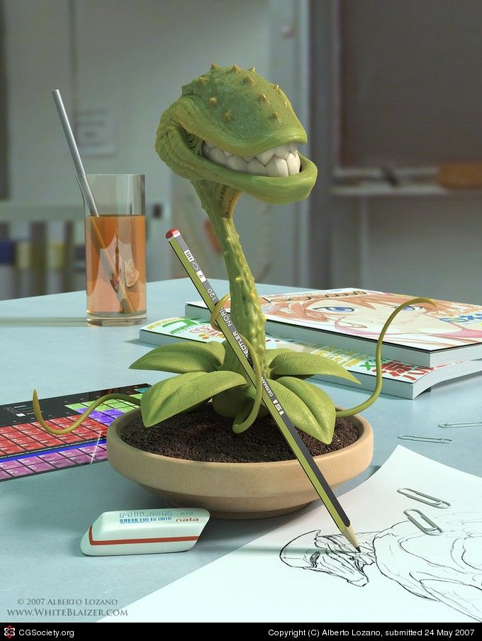 Title: Don't Feed the Plant  Name: Alberto Lozano  Country: España  Software: 3ds max, Modo, Photoshop #softwaredesign