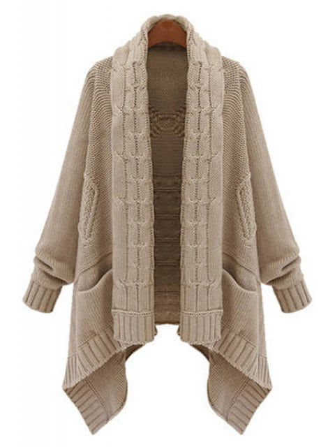 Cable Knit Long Thick Cardigan | Cable knitting and Cable