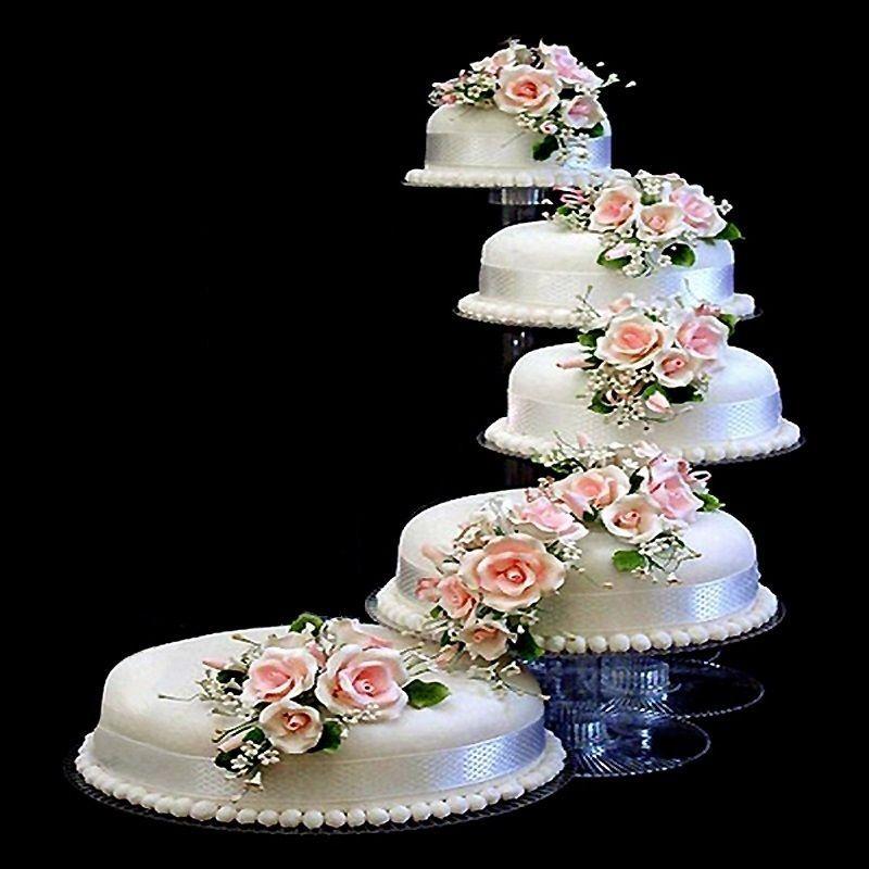 5 Tier Cascade Wedding Party Cake Stand Home Amp Garden