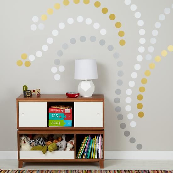 Metallic Wall Decals lottie dots silver metallic decal | wall decals, walls and polka