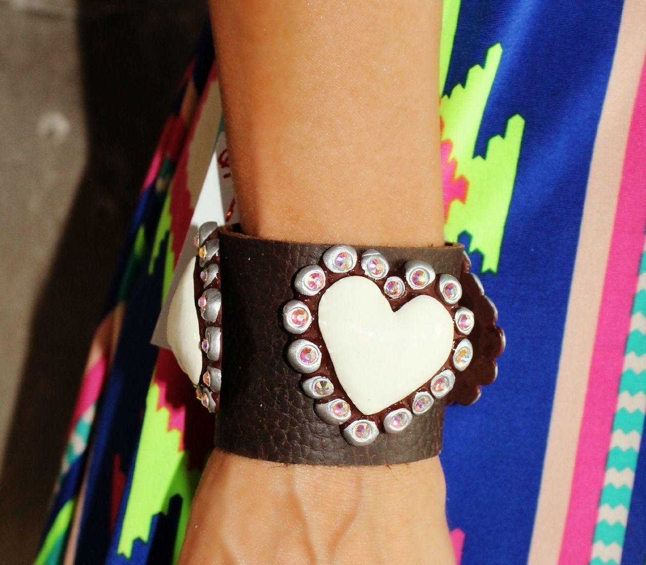 Sookie Sookie Tres Corazon PLAIN Leather Cuff - The Lace Cactus