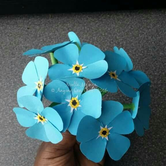 Forget Me Not Paper Flowers Paper Flowers Pinterest Paper