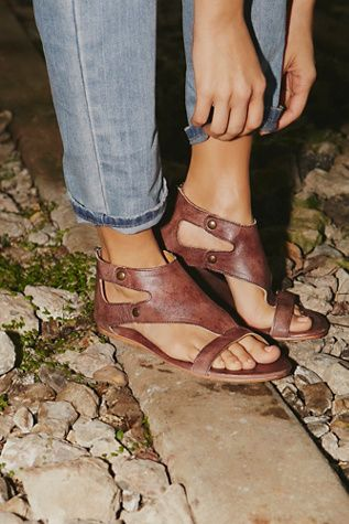Soto Washed Leather Sandal | Soft, washed leather sandals featuring a padded sole for a comfortable fit. Open side cutouts and metal hardware. Exposed back zip for an easy on-off.