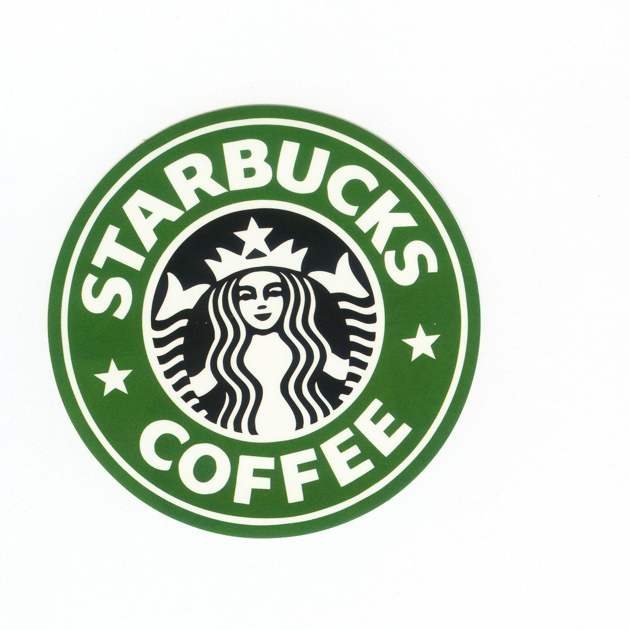 #1185 Starbucks Coffee , Width 8 cm, decal sticker - DecalStar.com