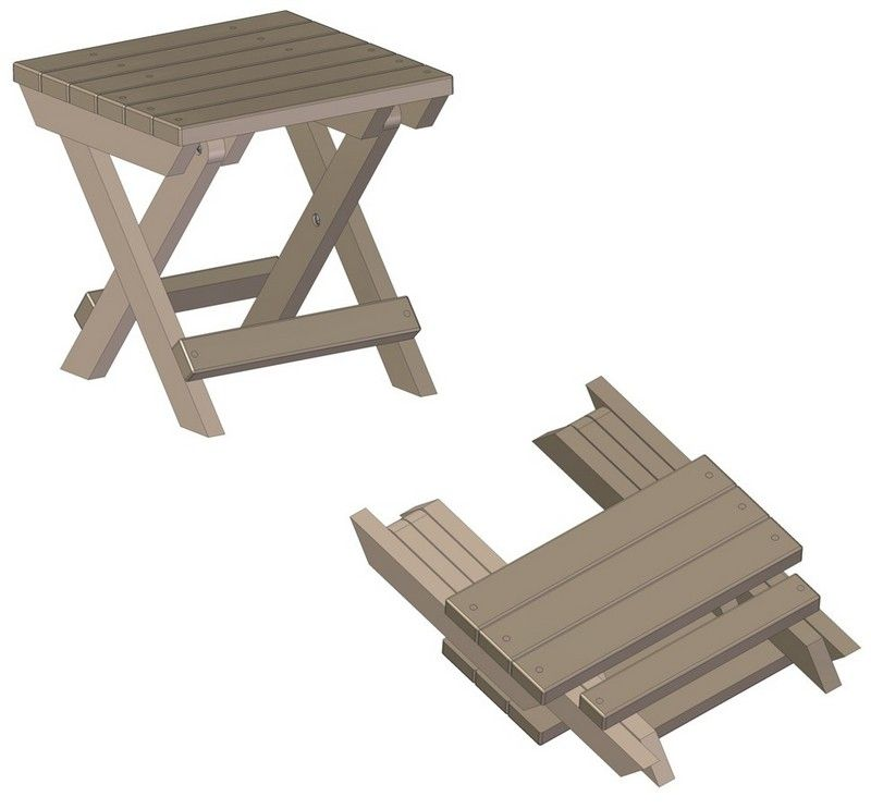 Small Folding Tables Camping Stool Stool Woodworking Plans