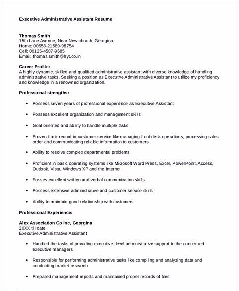 Administrative Assistant Job Description Resume Some Important Tips To Have The Best Executive Assistant Resume