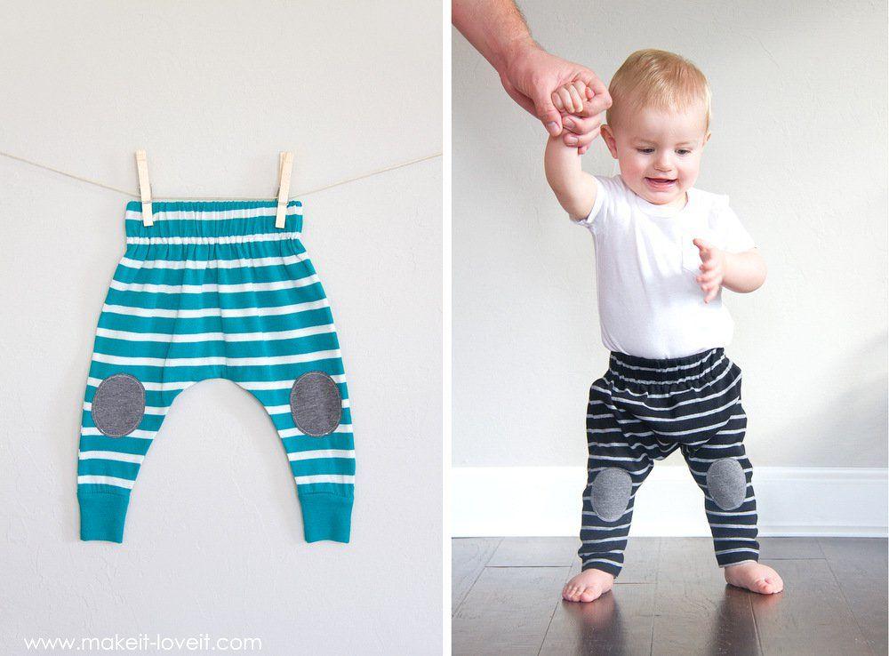Polainas simples de 20 minutos de Boho del bebé (... de una camiseta ...