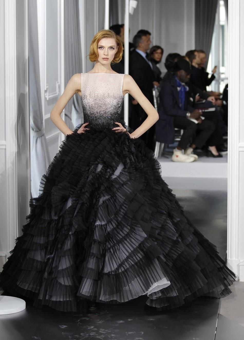 Christian Dior - Black and white gown. | How Stylish | Pinterest ...