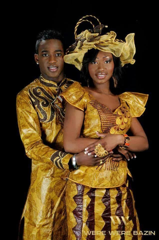 Senegal Couple African Fashion African Fashion Dresses