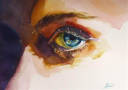 """Im watching you"" - Original Fine Art for Sale - © Beata Musial-Tomaszewska"