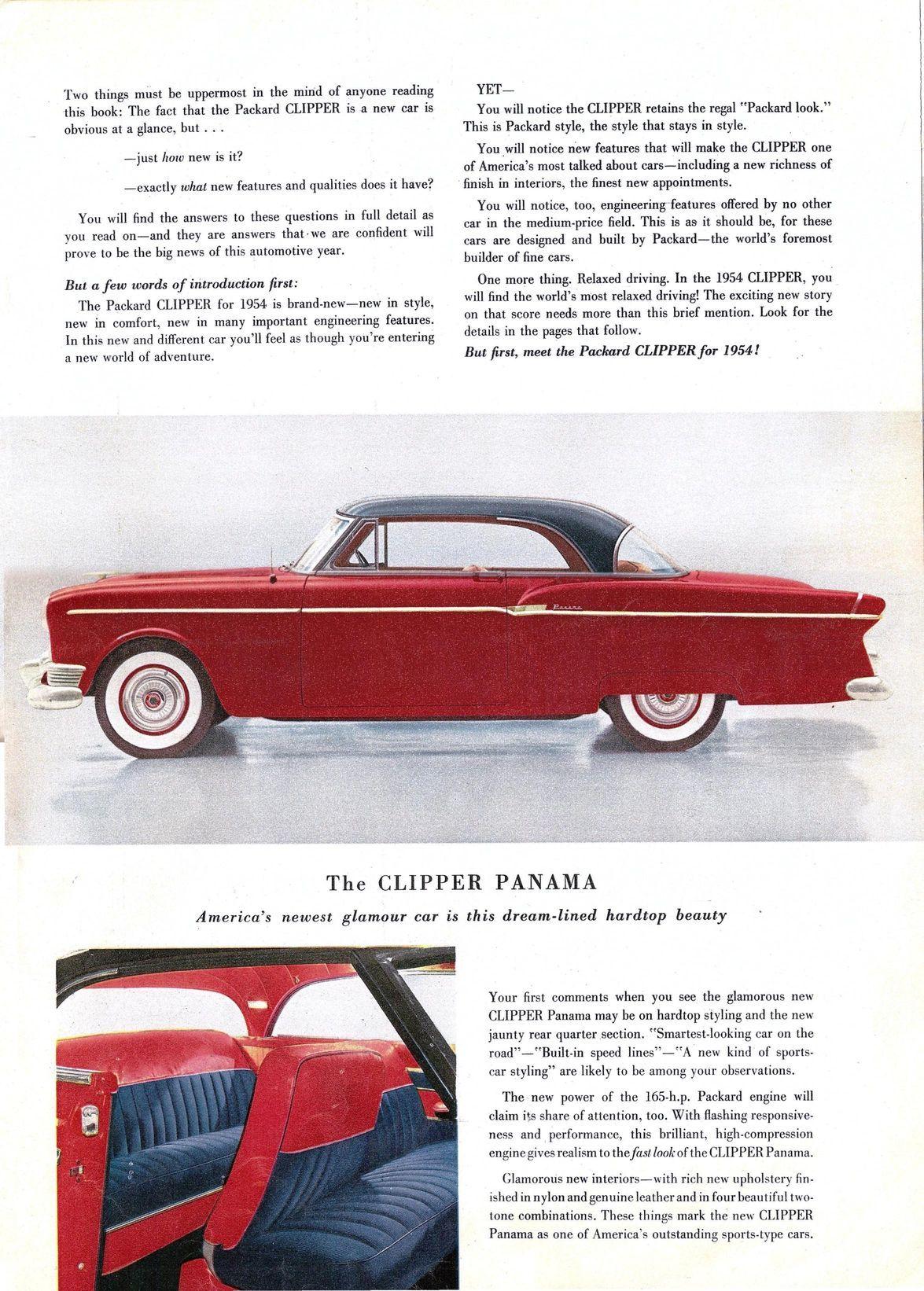 1954 packard clipper panama panamafavorite color1940scar