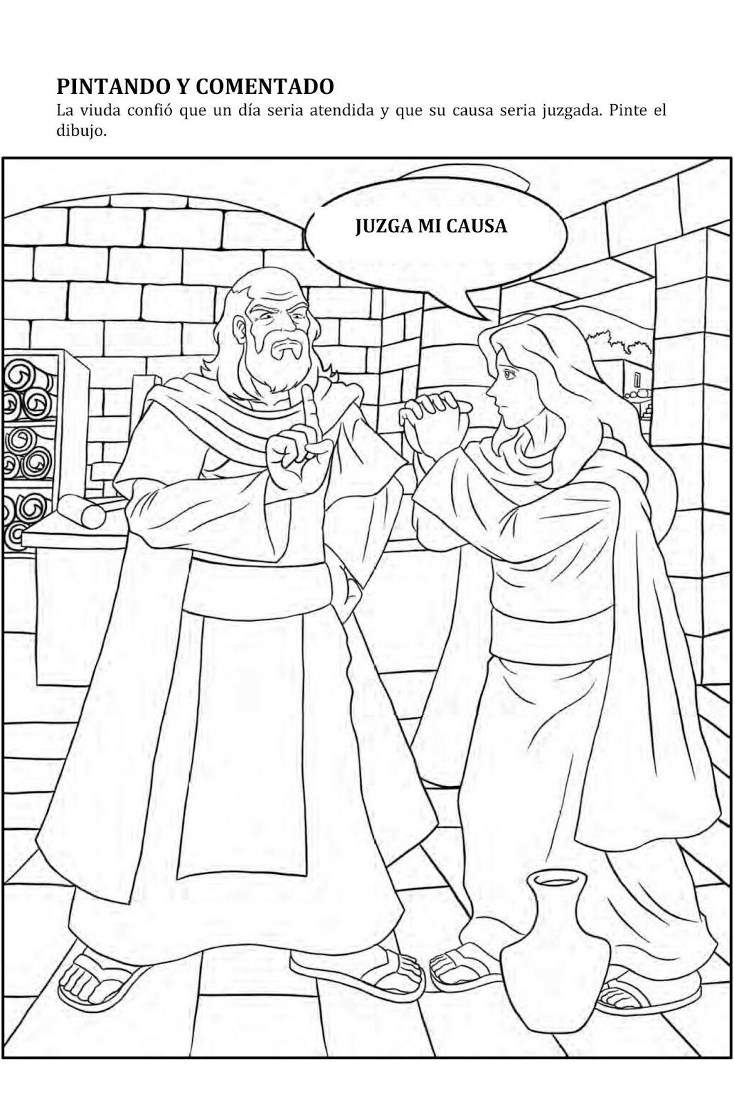 PARA COLOREAR: Parábola El Juez y la viuda   PARA COLOREAR ...