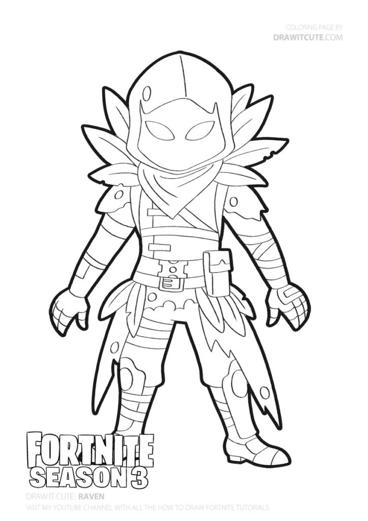 Pin By Chloe On Fortnite Coloring Pages Fortnite Raven Art