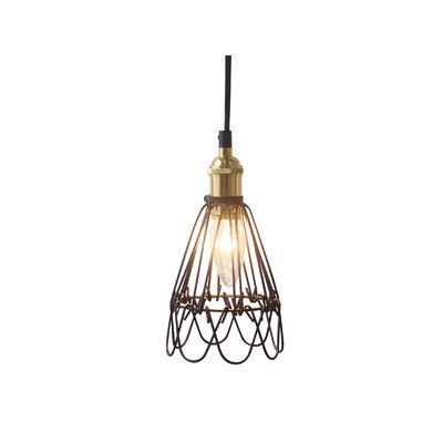 Collapsible iron pendant lamp by luminite get it now or find more tiffany emporium ceiling fixtures at temple webster