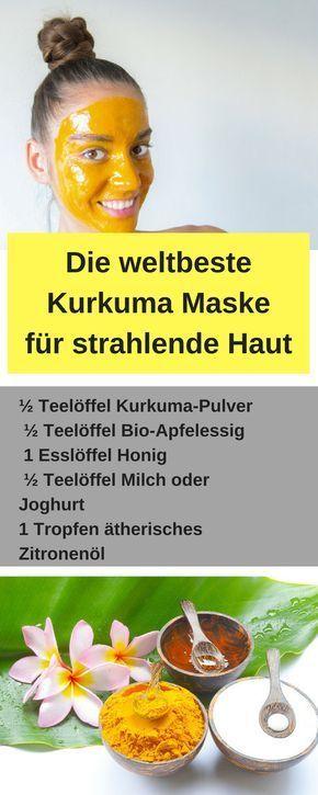 Kurkuma Gesichtsmaske für eine strahlende Haut #face