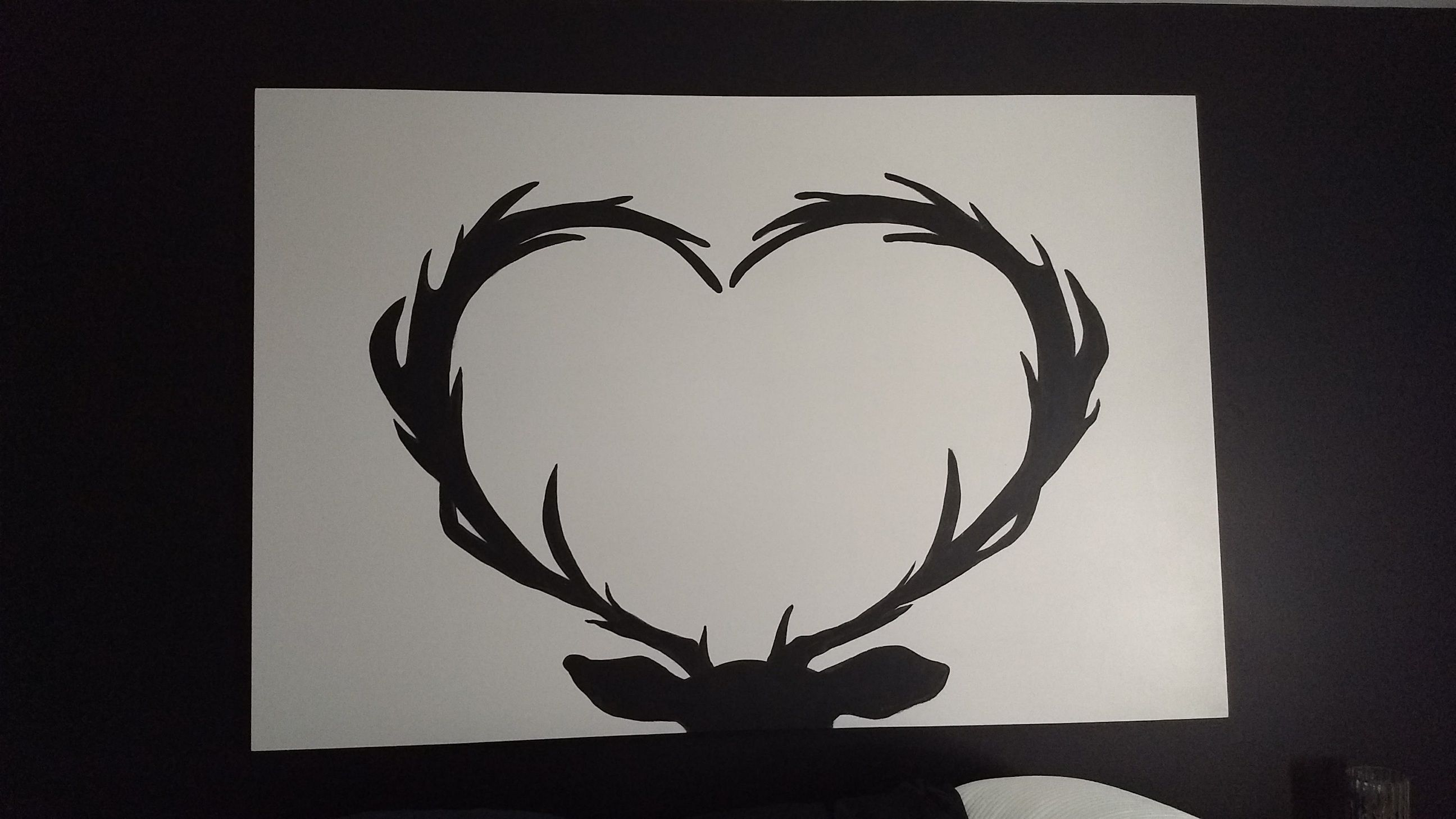 Shadow Heart Antlers I Painted This Heart Shaped Deer Antler Picture For My Master Bedroom This Is Huge Antlers Pictures Master Bedrooms Decor Heart Shapes
