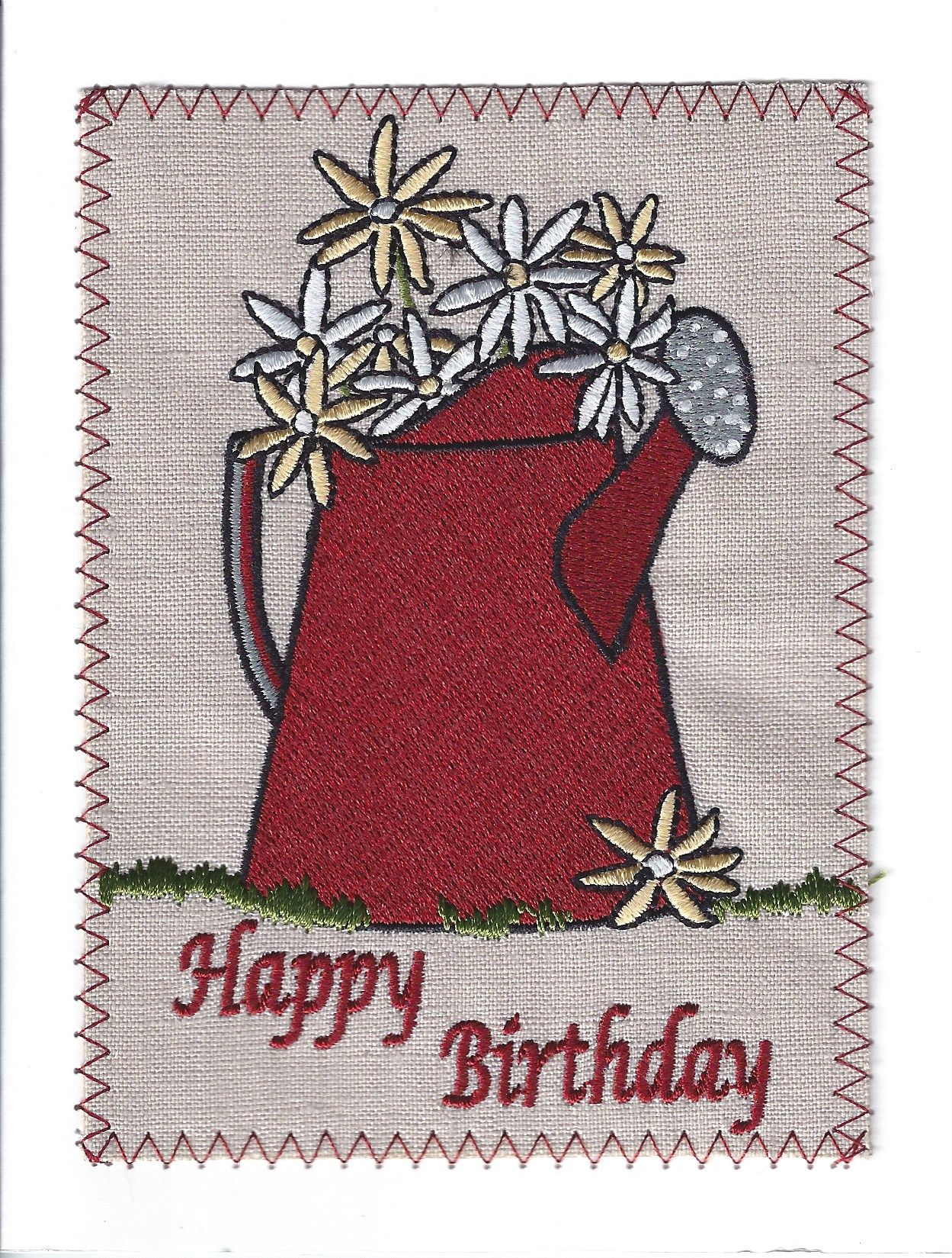 paper lane embroidered cards item bd116p  birthday card