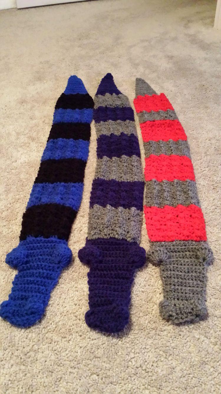 Alligator Crochet Scarf By Me Crochet Projects Pinterest