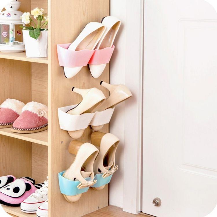 pi ces porte chaussures en plastique montage mural mobilier pinterest