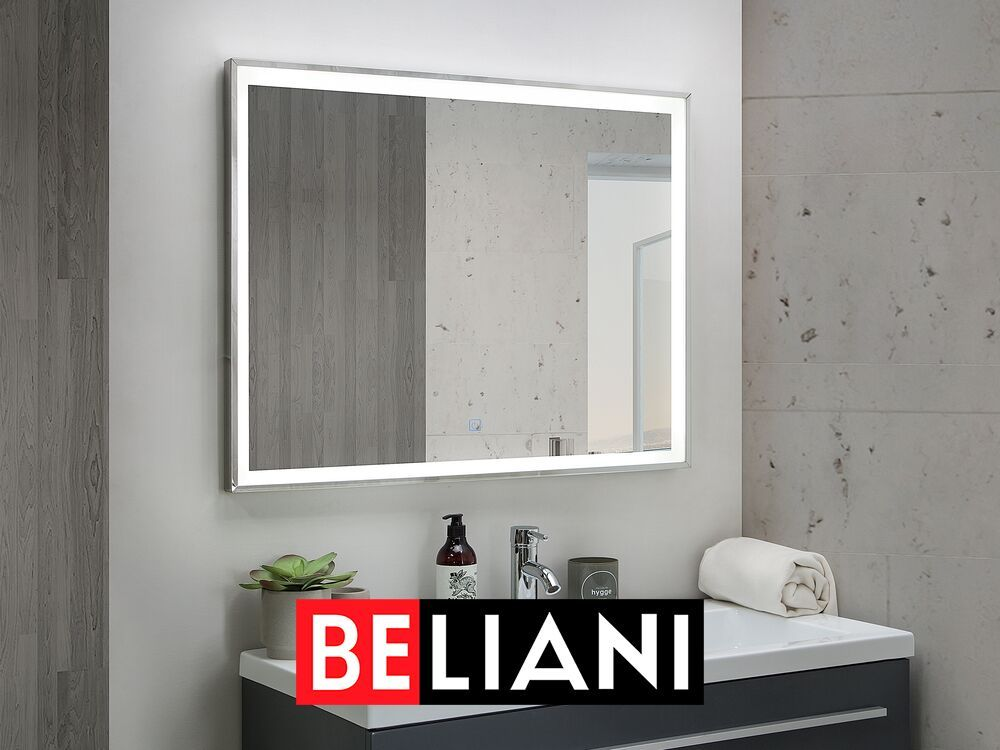 Badspiegel Mit Led Beleuchtung Rechteckig 60 X 80 Cm Argens In