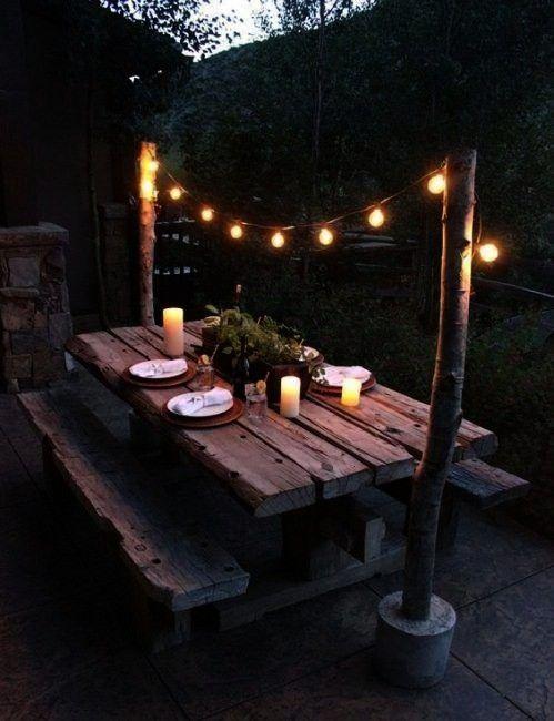 jardines rústicos Decoración de jardines rústicos  20 Enchanted Forest Wedding Themed Ideas Currently Crushing On  How Sweet It Is  Bloglovin From ma...