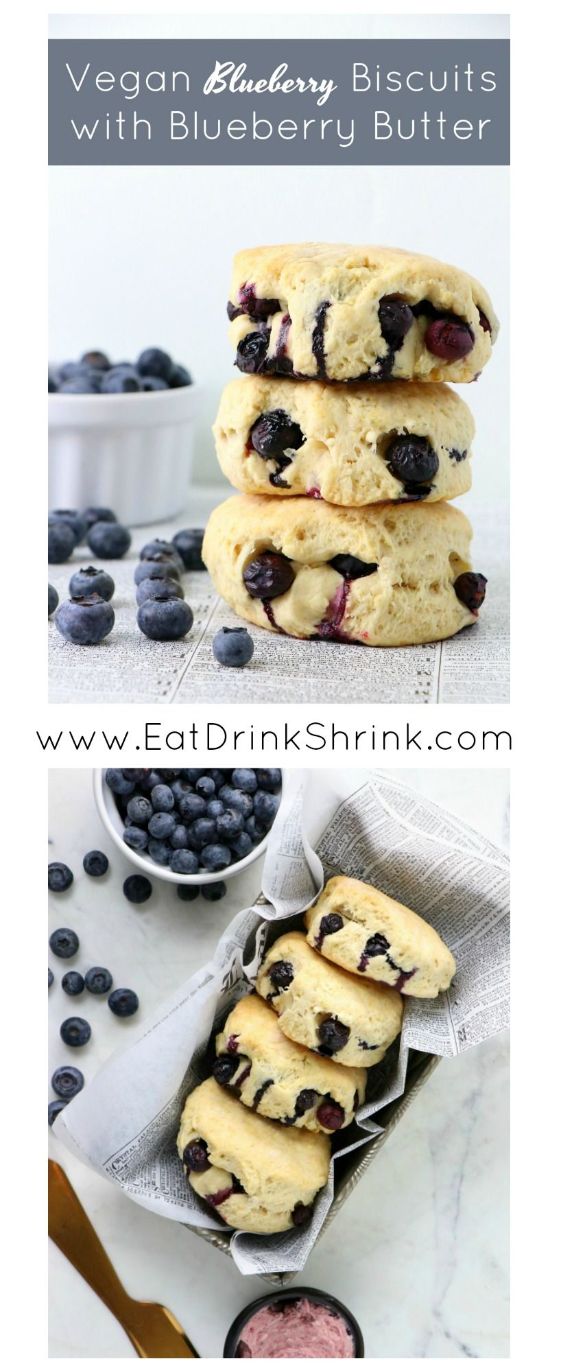 Vegan Blueberry Biscuits With Blueberry Butter Eat Drink Shrink Recipe In 2020 Vegan Blueberry Blueberry Biscuits Eat