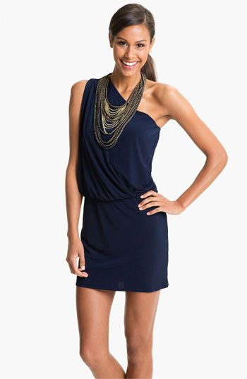 Laundry By Shelli Segal Chain Necklace One Shoulder Dress Available At Nordstrom