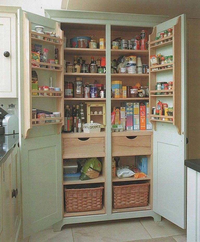 51 Clever Solution Standing Rack Kitchen Decor Ideas Freestanding Kitchen Free Standing Kitchen Pantry Pantry Design