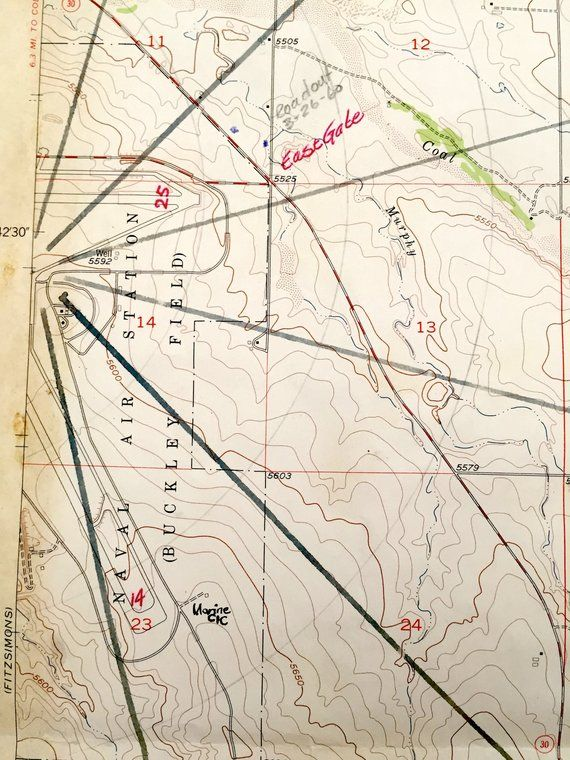 Antique Coal Creek, Colorado 1957 US Geological Survey ...