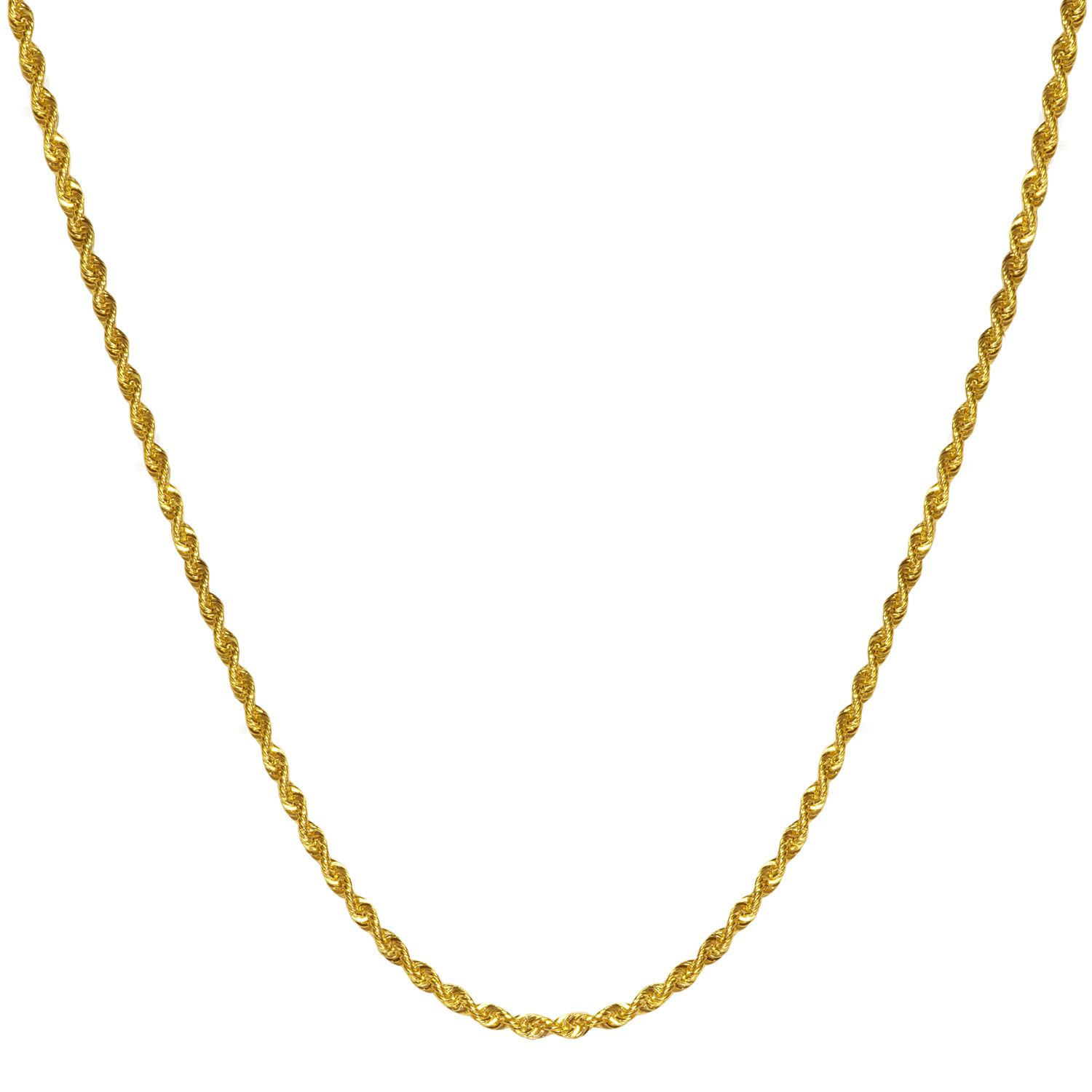 af1c2757e 2.5mm Light Rope Chain in 14k Yellow Gold - Jewelry Deals 80% OFF + $25 OFF  extra discount on purchases $500 & UP ! Enter PINPROMOT coupon at CHECKOUT  to ...