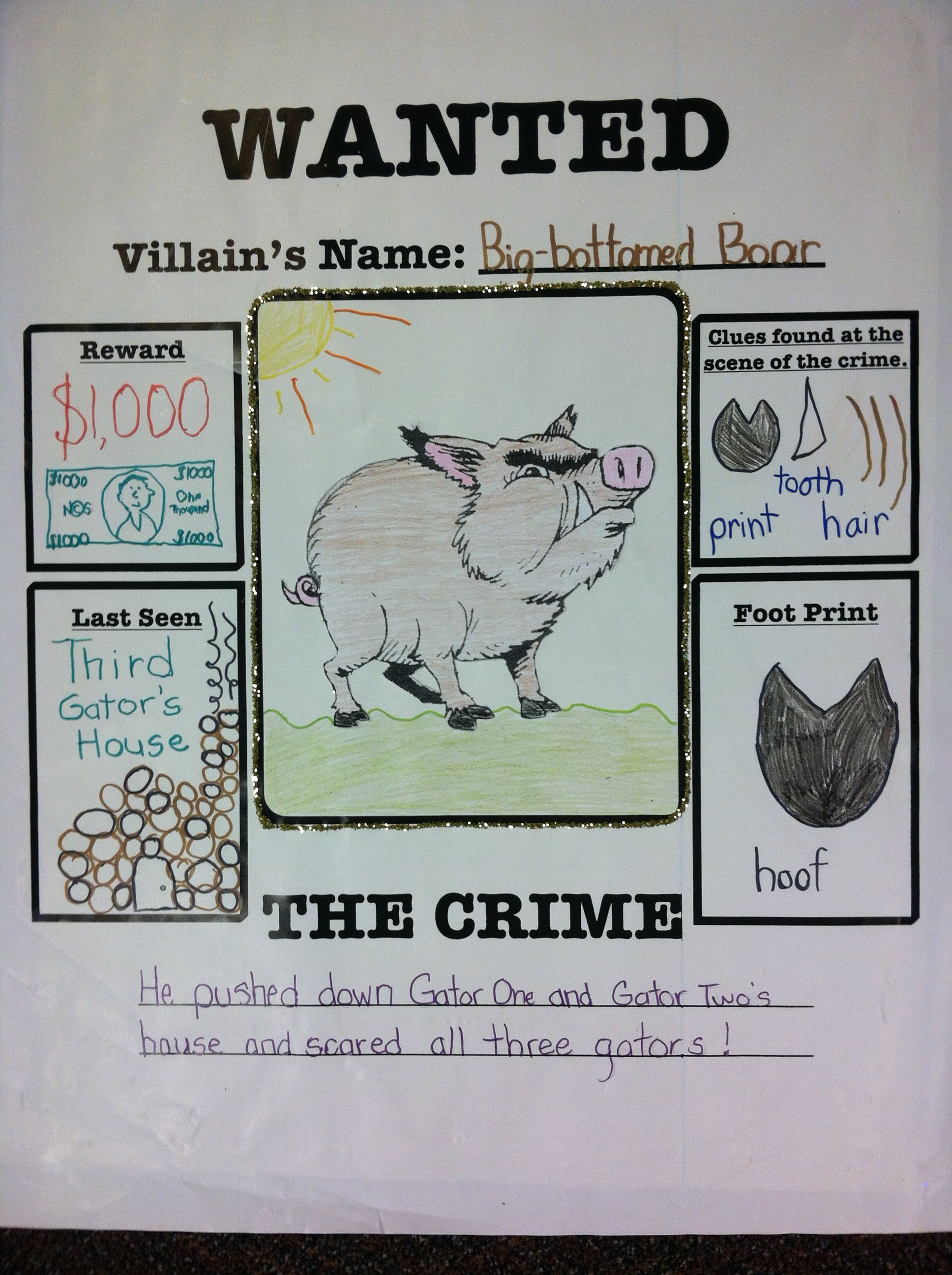 Wanted Poster The Three Little Gators
