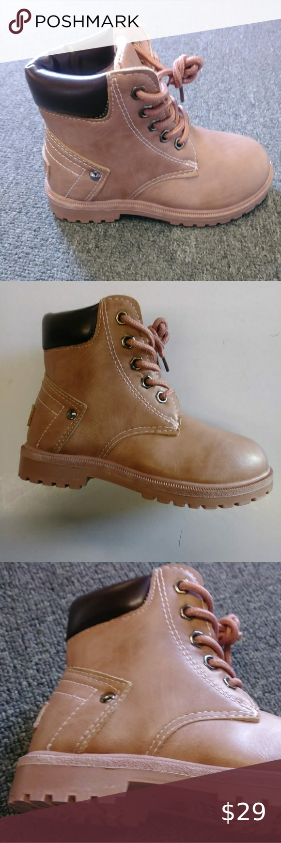Work Hiker Boots - Lace-up vamp