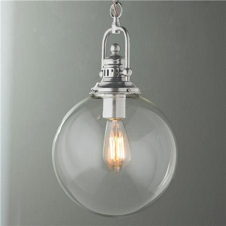 Clear glass globe industrial pendant mozeypictures Image collections