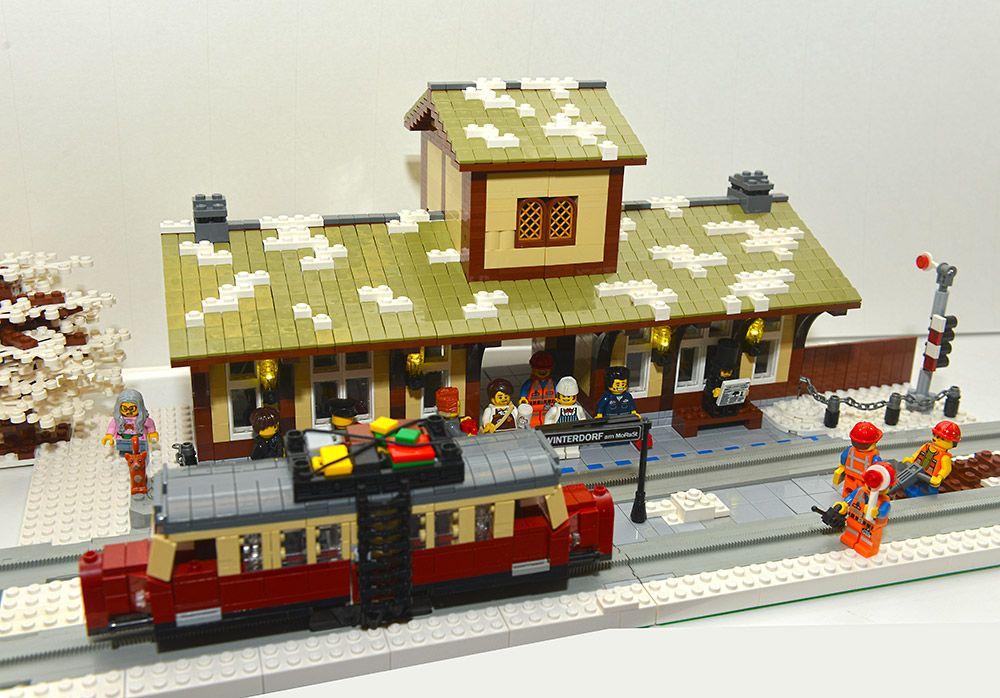 lego winter train instructions