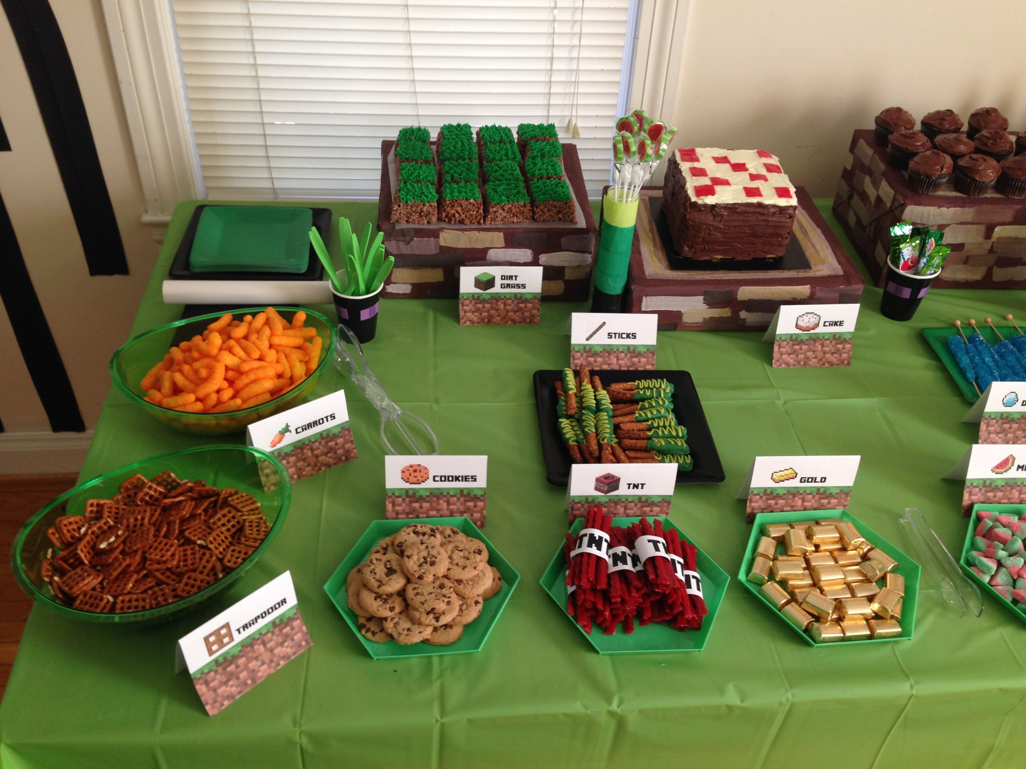 Minecraft party food up 3 264 2 448 pixels for Decoration goods
