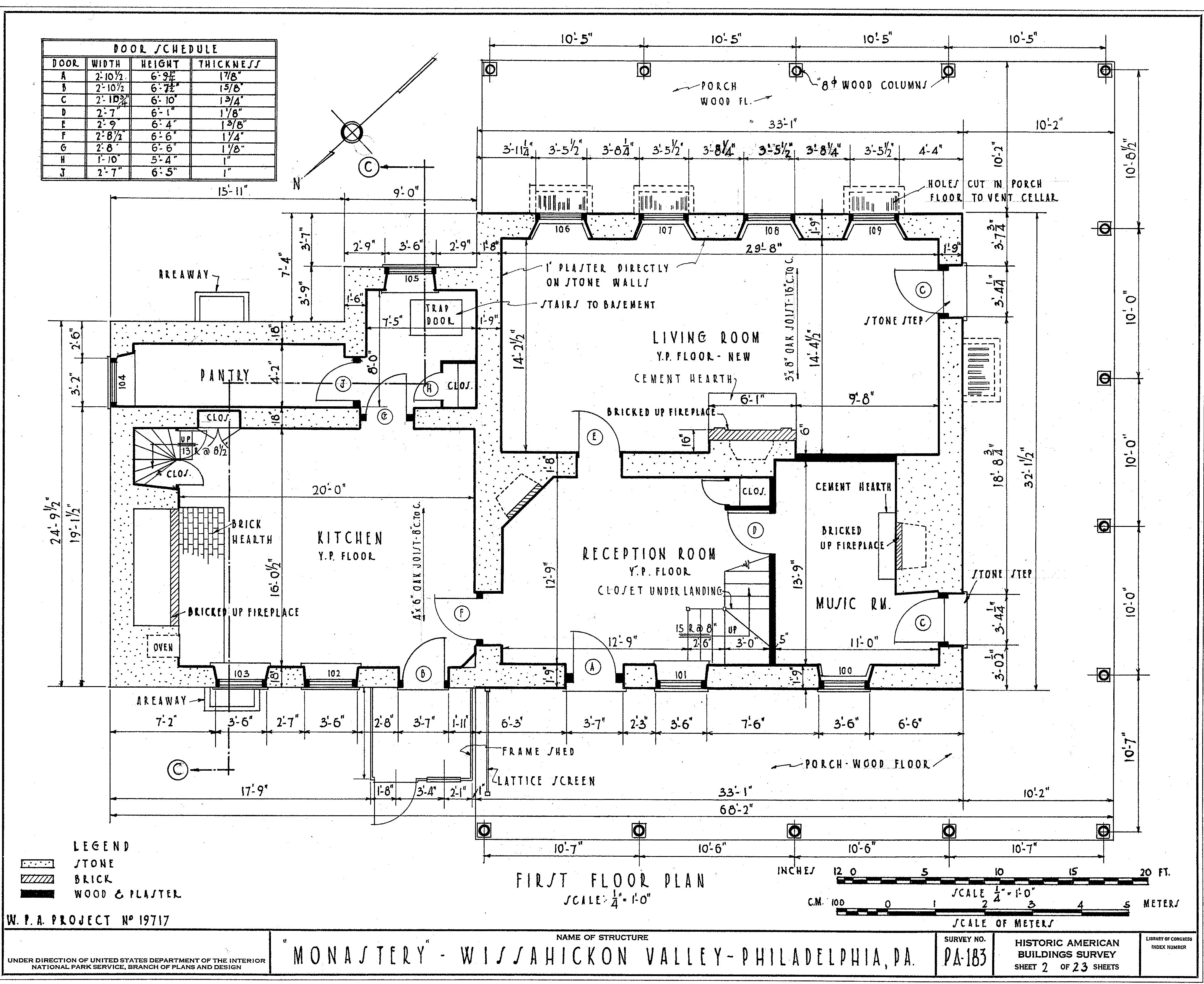File:Monastery floor plan.jpg - Wikimedia Commons | House plans ...