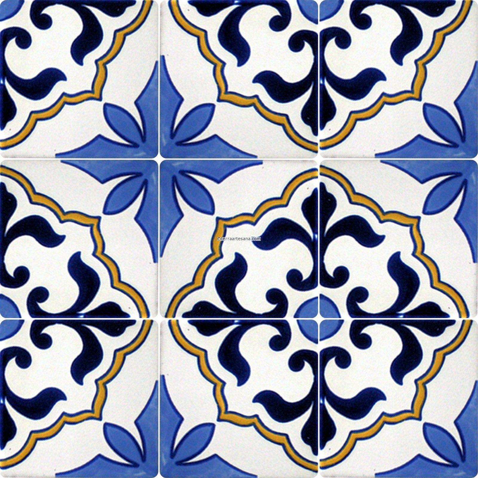 mexican tile designs stencil Mexican Talavera Frost Proof Tile