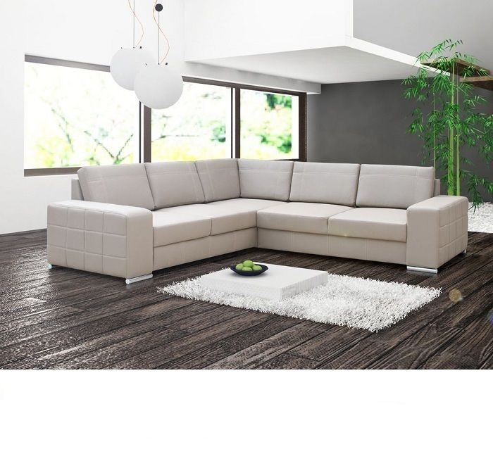 Real Leather Corner Sofa Bed Avignon Ii Many Colours Cube Sides Pillow Back In Home Furniture Diy Furniture Sofas Armchairs Suites Ebay