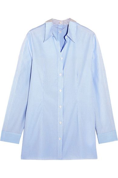 ef586604 MM6 Maison Margiela - Striped Cotton-poplin Shirt - Sky blue   Products