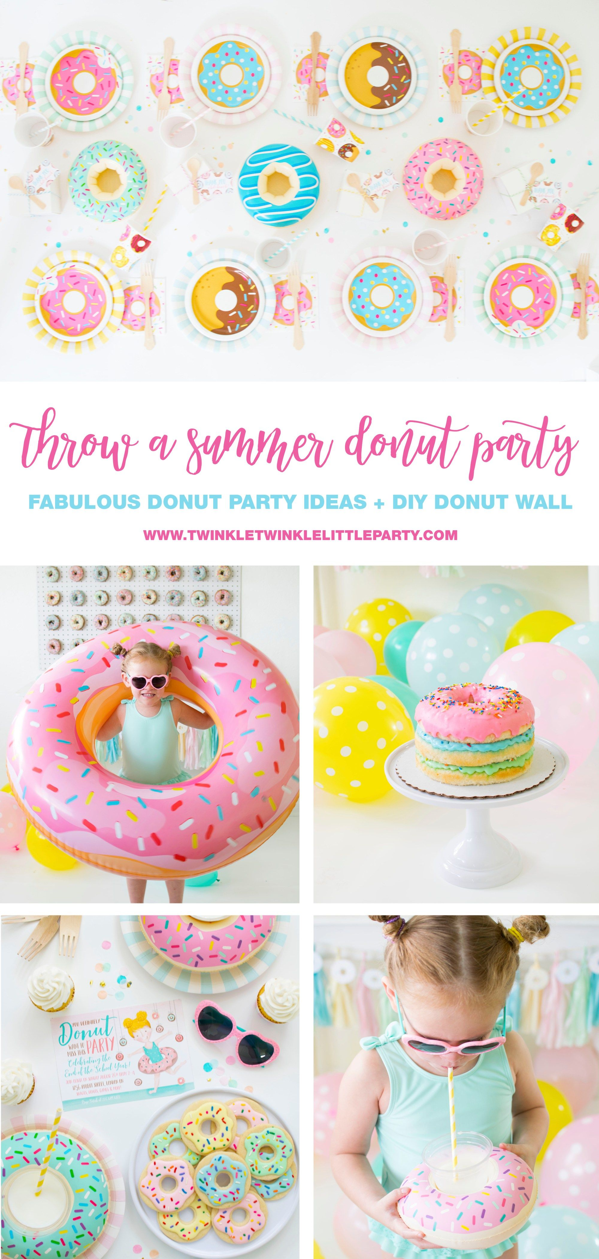 Throw A Summer Donut Party For A Birthday Party Or End Of Summer