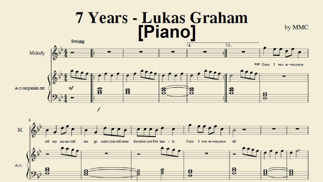 7 Years - Lukas Graham (Piano) [Sheet Music by MMC] | piano ...