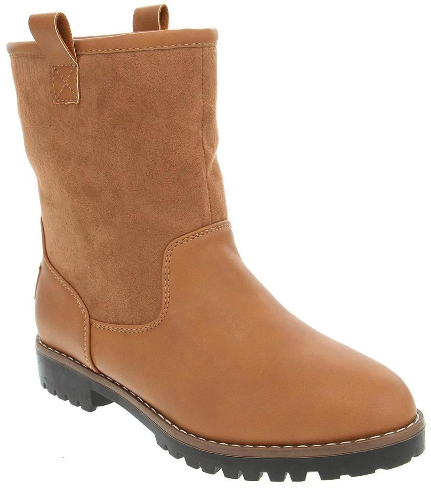 acbb5e7a3aa7 Nautica Ladies Bosun 3 Mid Calf Winter Boot with Man Made Shearling   fashion  clothing