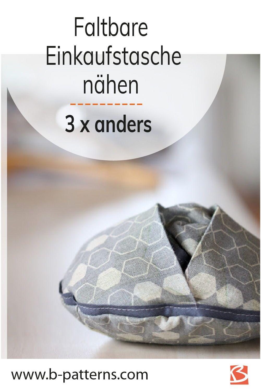 Photo of Einkaufstasche nähen – FOLDABLE!