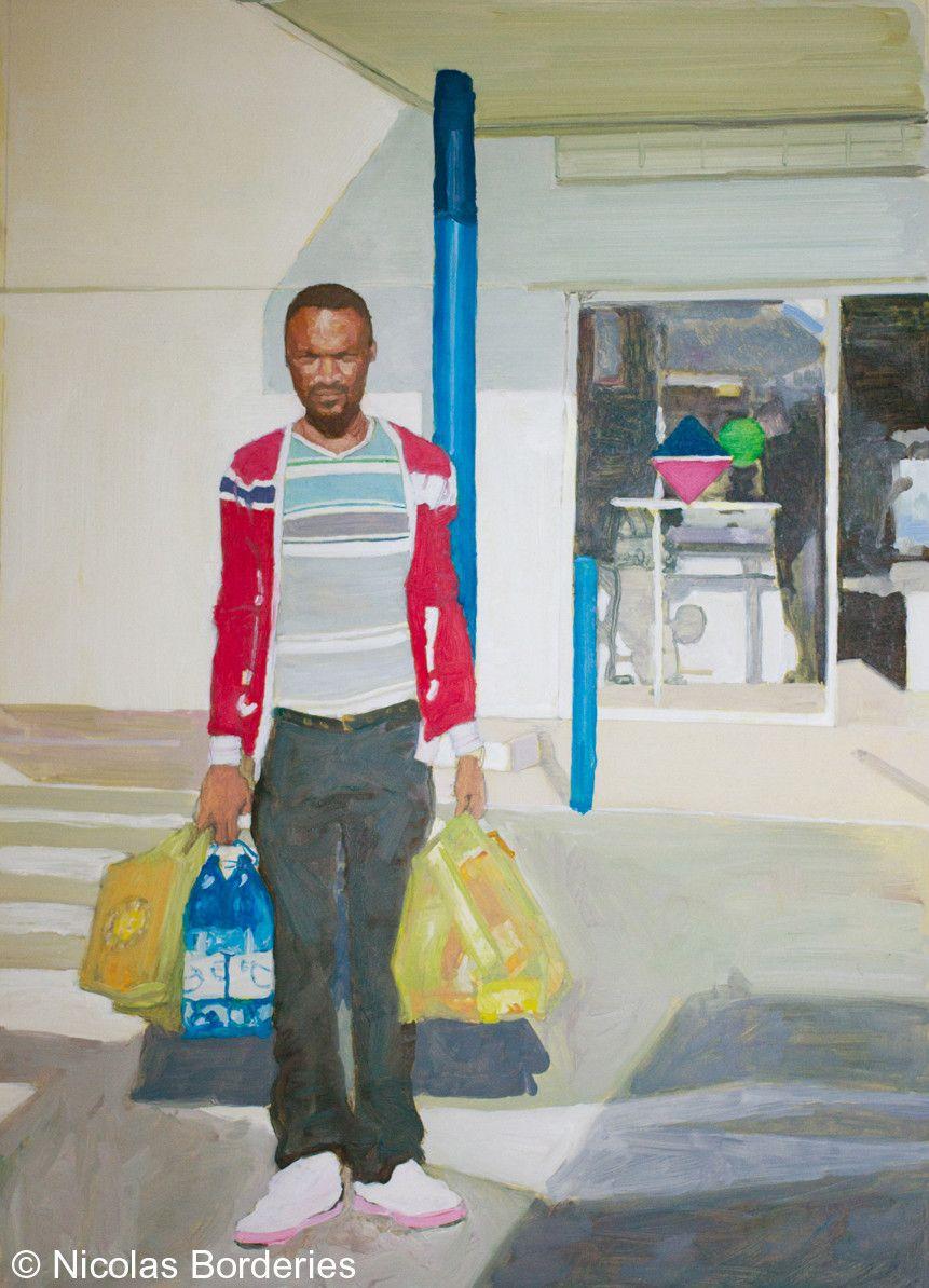 Fabrice, oil on paper, 63 x 45,5 cm, 2011.