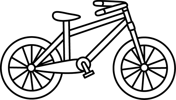Black And White Bicycle  Bike  Bicycle, Clipart Black