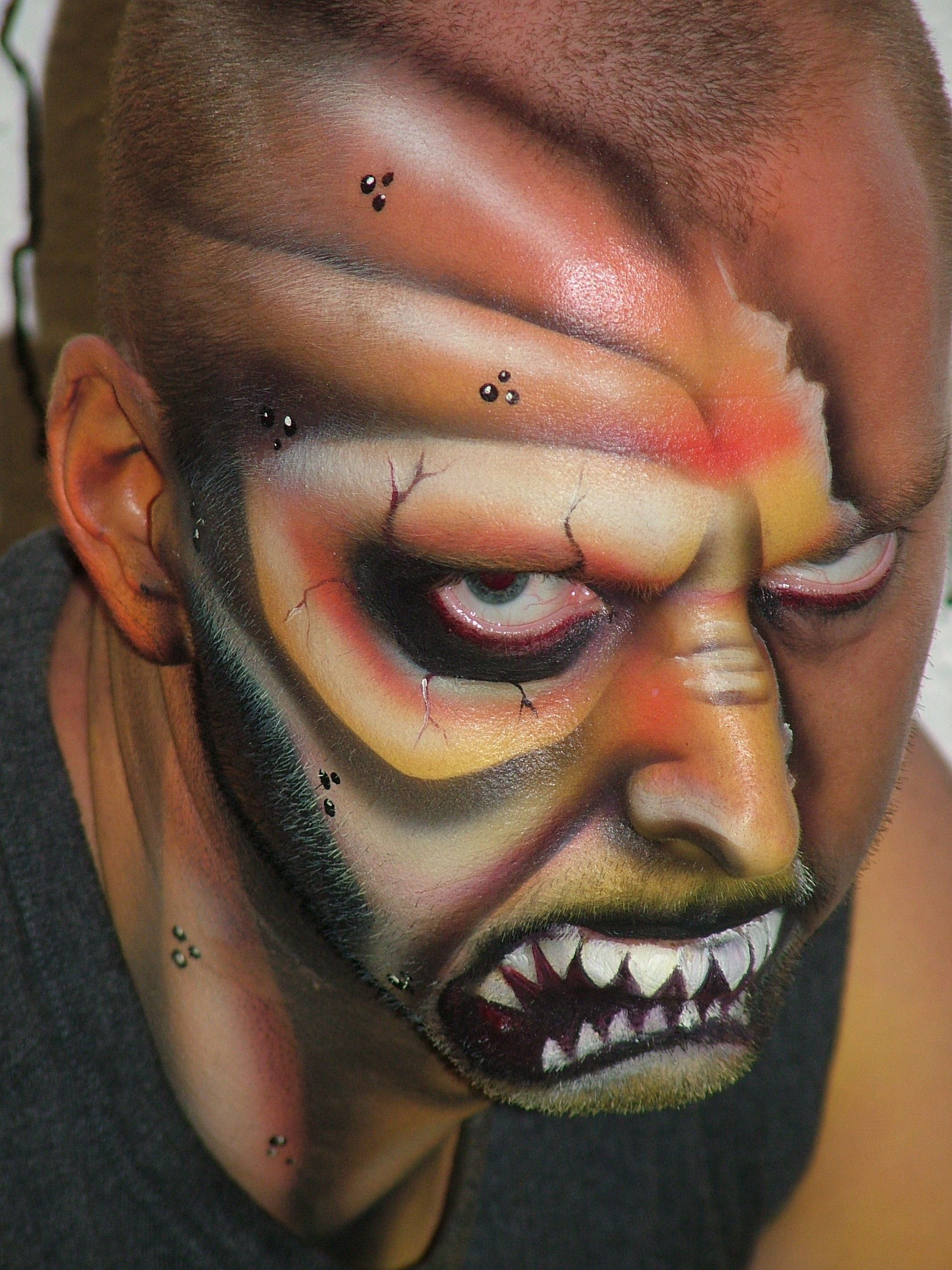 halloween | www.bodyfx.co.nz | bodypainting | pinterest | monster