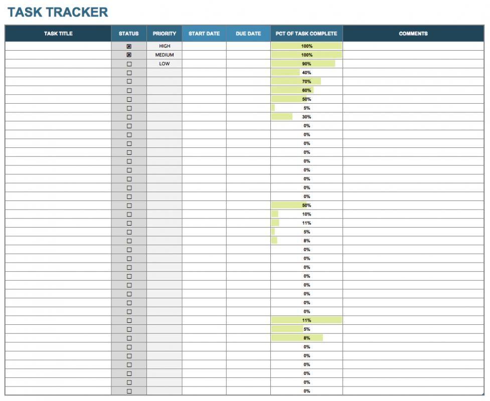 Job Tracking Spreadsheet Template