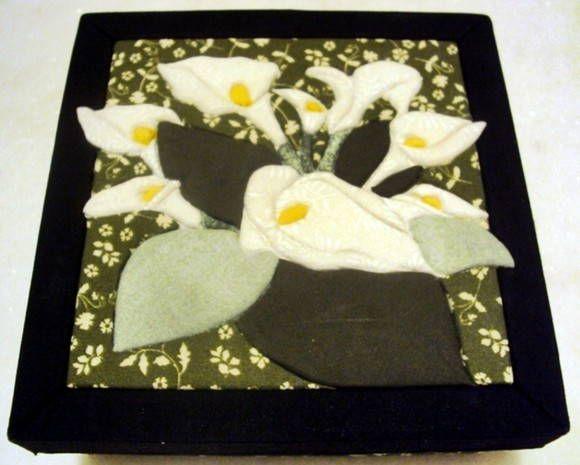 Caixa em Carton Mousse - Lírios