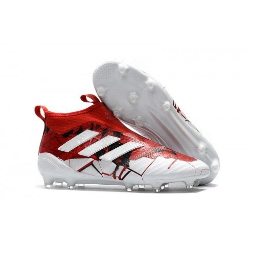 High Quality New Adidas Ace 17 Purecontrol Fg Soccer Cleats Red White Adidas Soccer Shoes With Chea In 2020 Adidas Soccer Boots Cool Football Boots Adidas Soccer Shoes