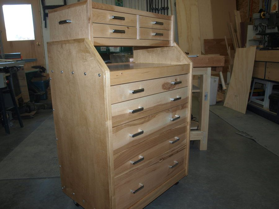 Rolling Tool Chest Plans Wood Tool Chest Woodworking Desk Plans
